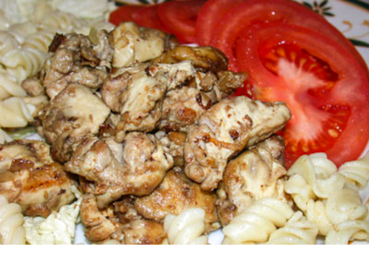 Beef Brain With Pasta and Fresh Tomatoes