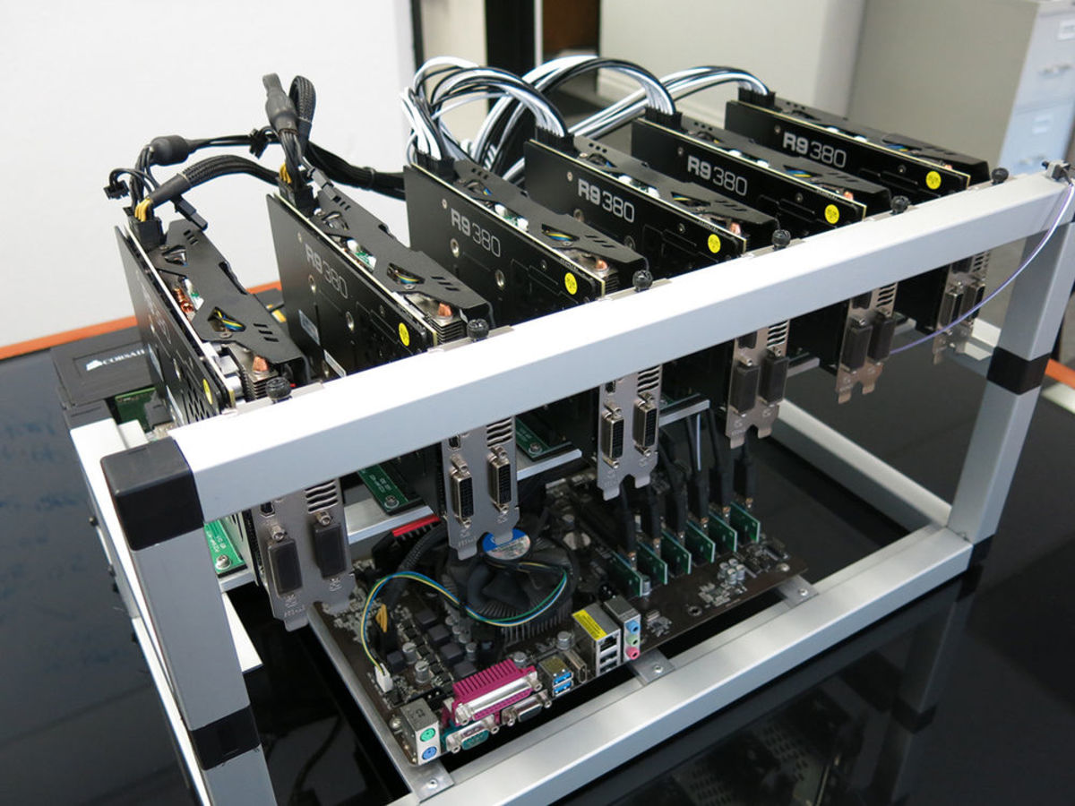GPU mining rig.