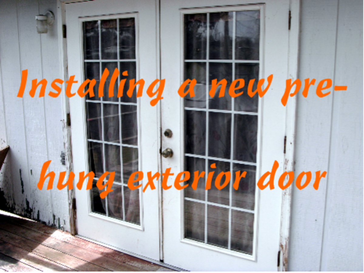 How to install a prehung door replacing an exterior door - Installing a lock on a bedroom door ...