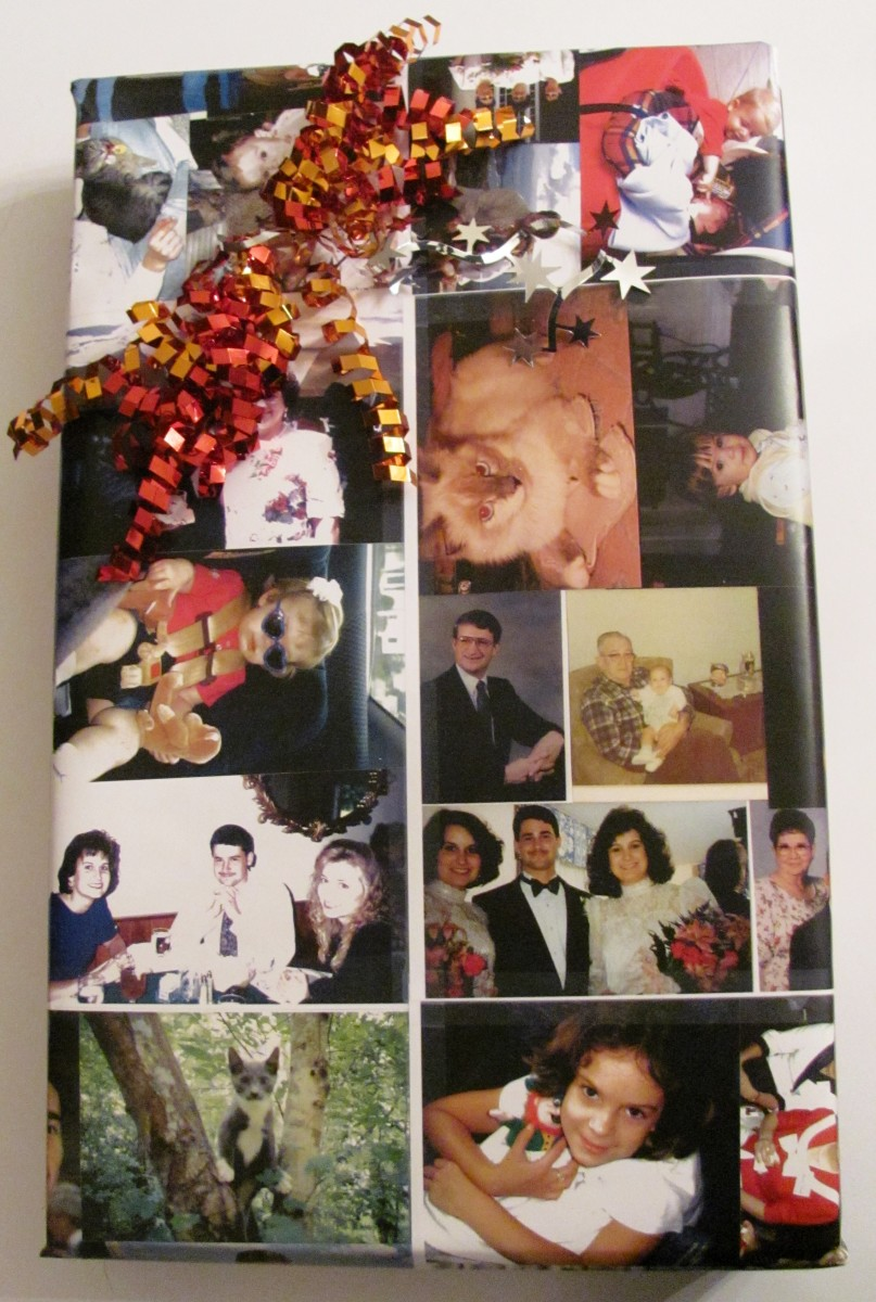 Crafts Using Family Photos:  Make Gift Wrap, a Journal and a Keepsake Box