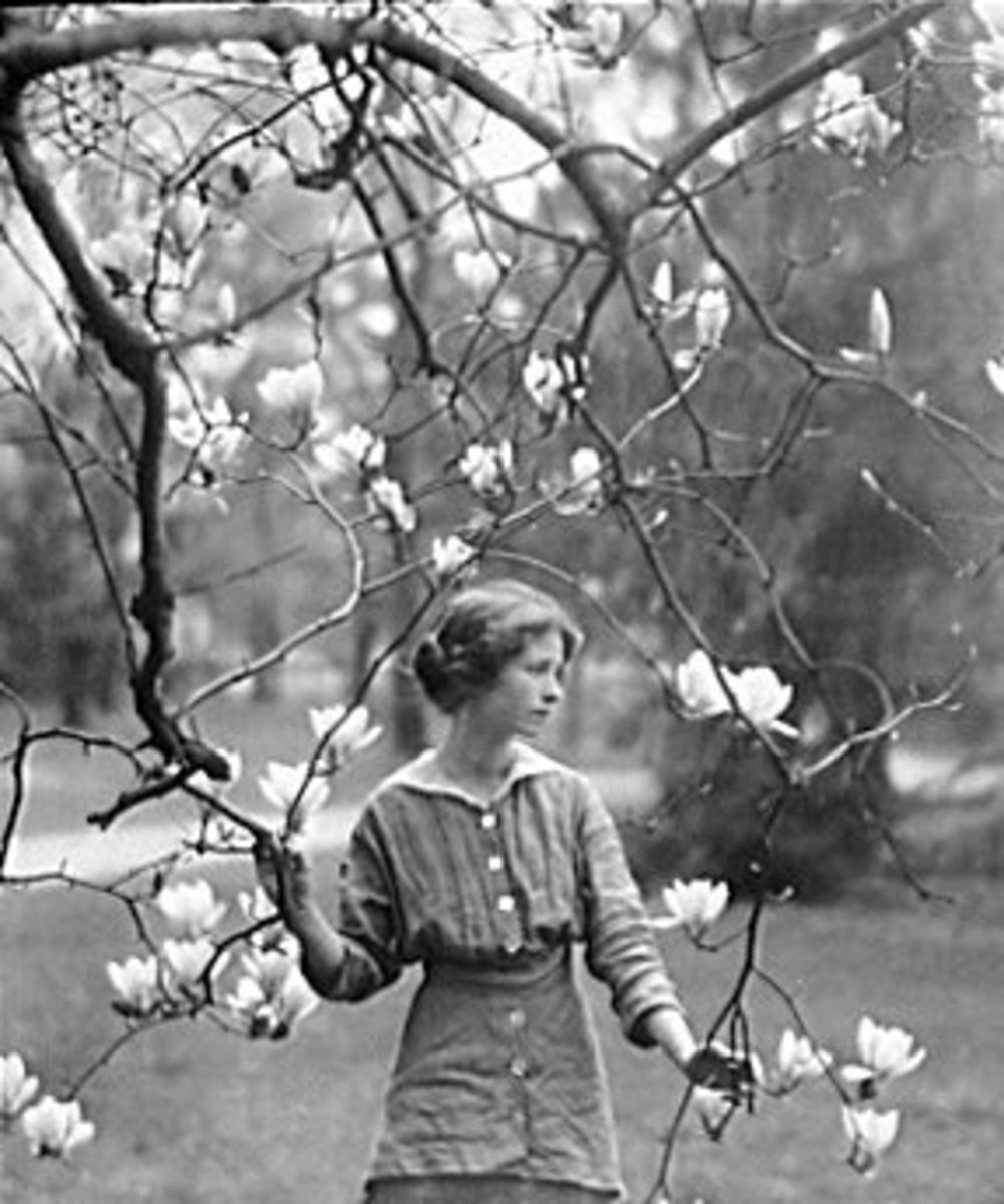 Edna St. Vincent Millay in Mamaroneck,[7] NY, 1914, by Arnold Genthe.