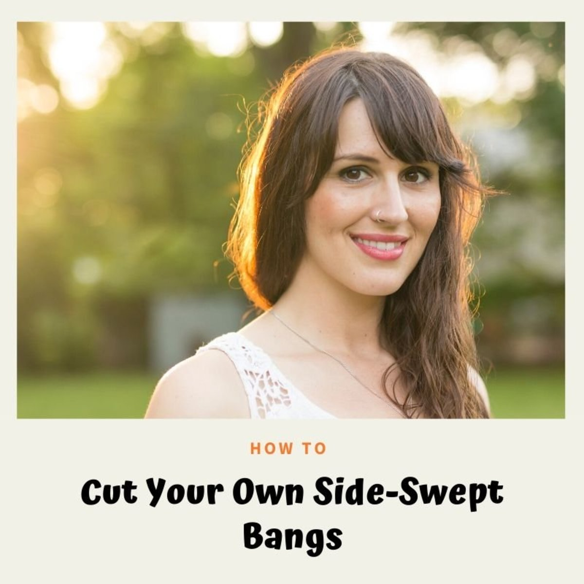 How to Cut Your Own Side-Swept Bangs