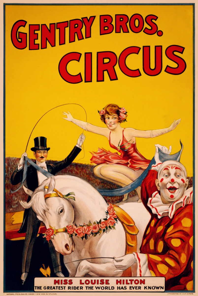Poster for a circus act from the late 1800s.
