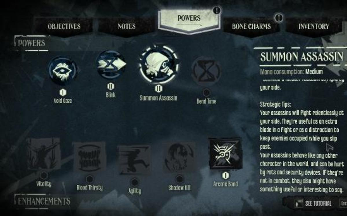 Dishonored Knife of Dunwall Daud Powers Upgrade Guide