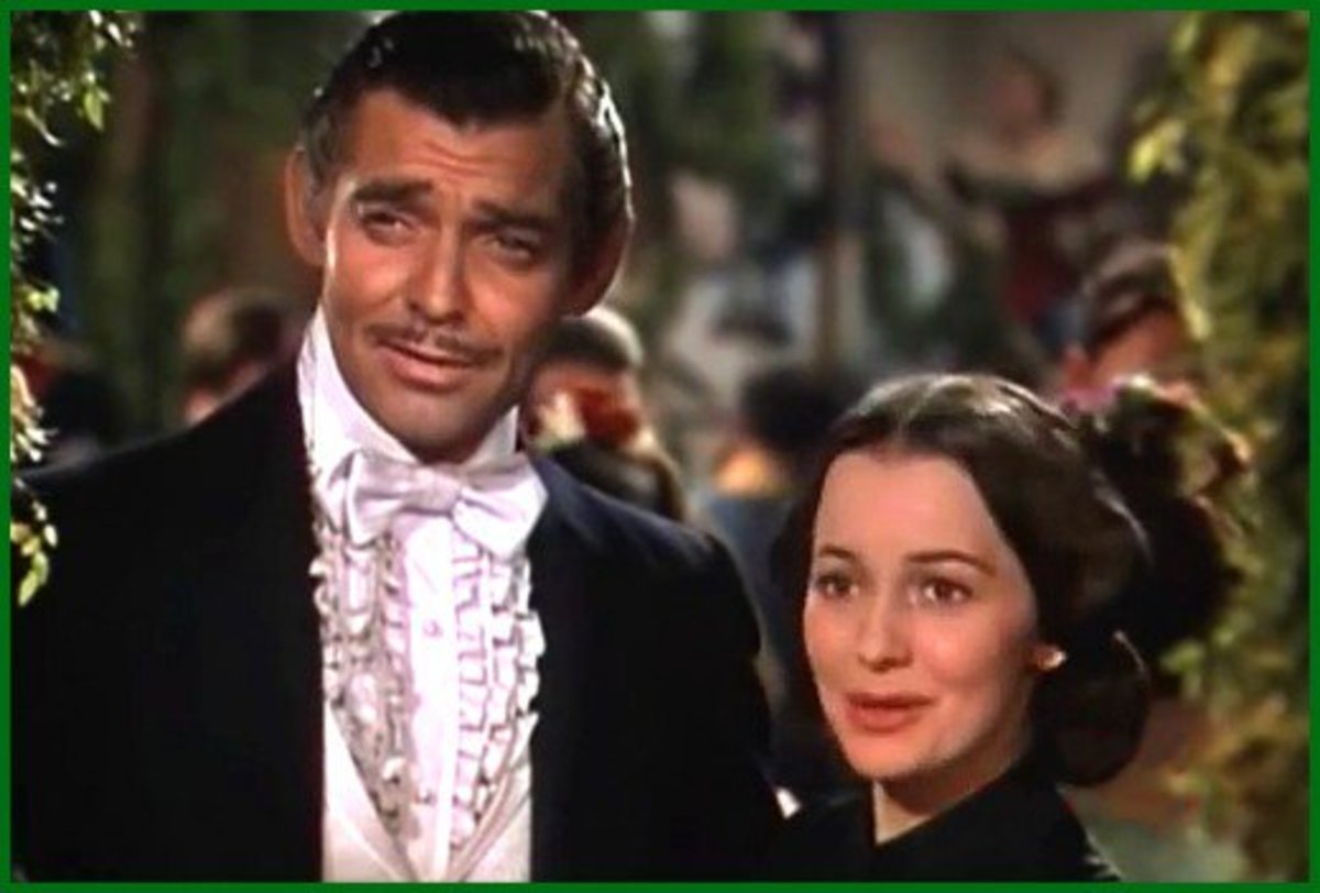 Clark Gable and Olivia de Havilland in Gone With The Wind.