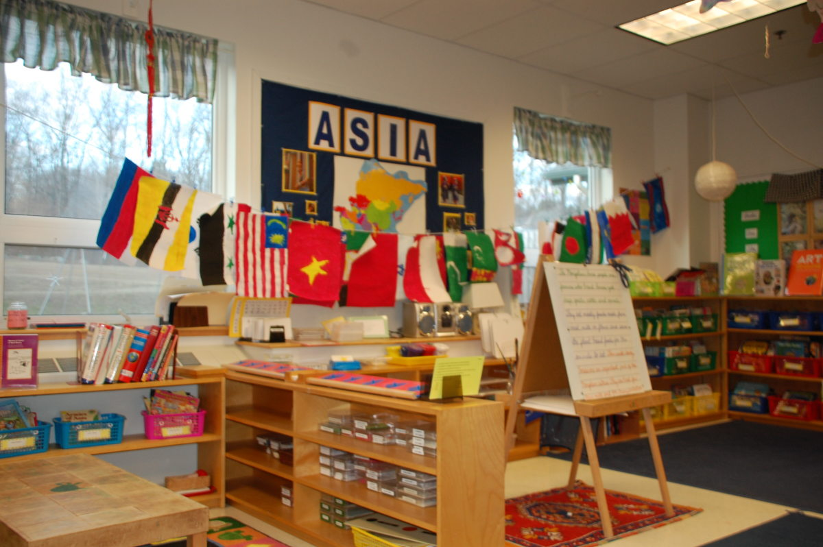 A Montessori Classroom offers a stimulating, hands-on learning experience
