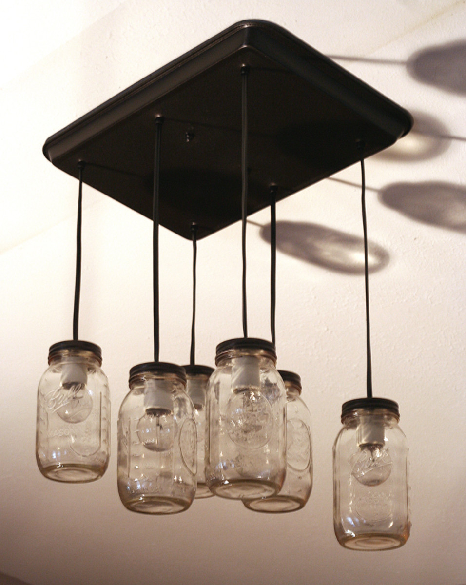 DIY Mason Jar Pendant Lights