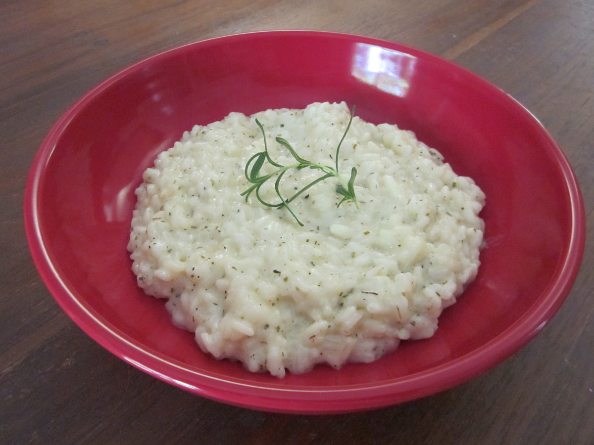 Sour Cream and Herb Risotto