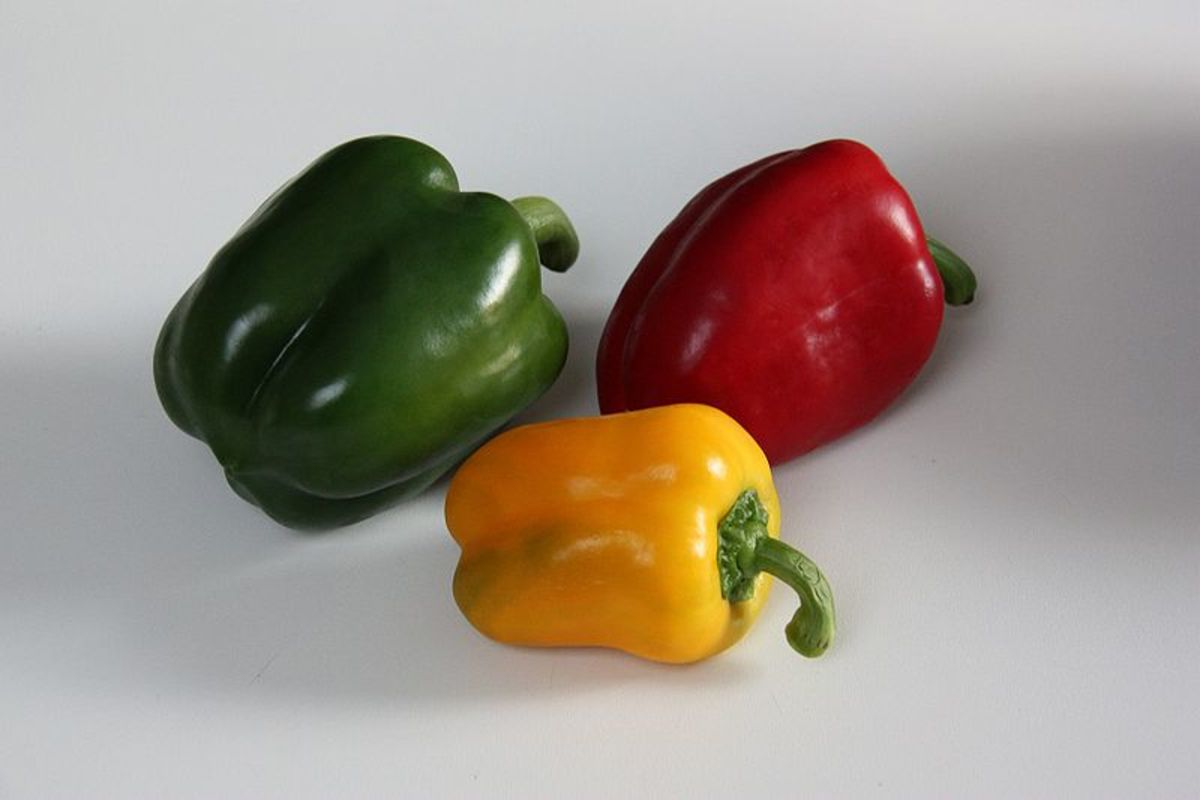 Green, Red, and Yellow Bell Peppers http://www.khamtran.com/