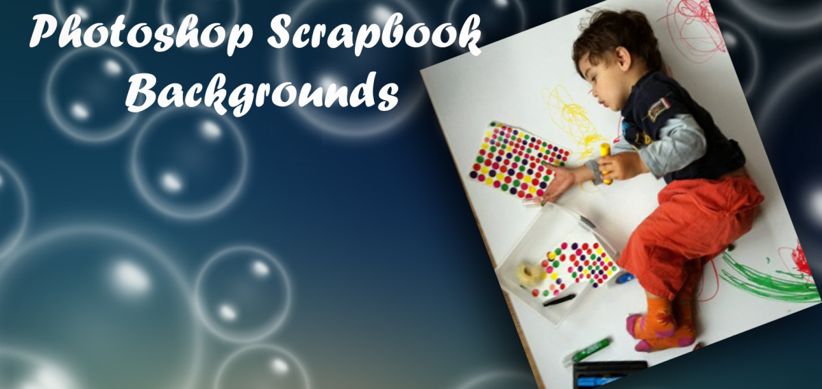 Be creative and design your own scrapbook backgrounds in photoshop.