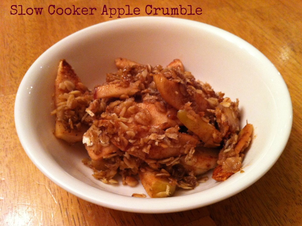 Slow Cooker Apple Crumble Recipe