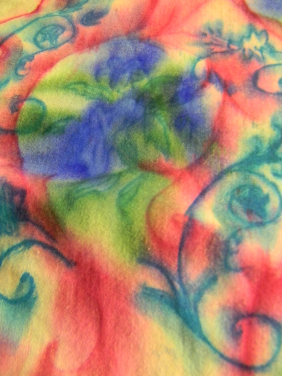 Tie-Dyeing With Sharpies and Rubbing Alcohol