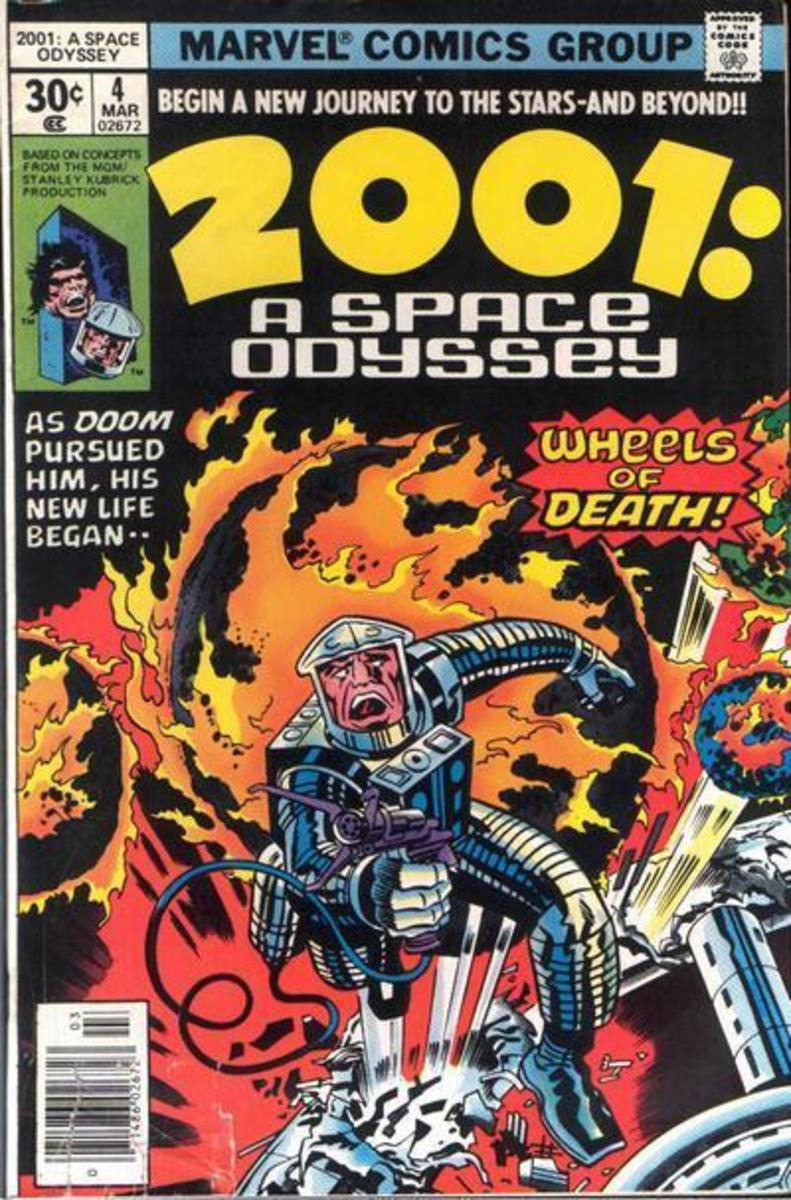 2001, The Comic Book: Yeah, THIS is what the movie was missing - giant flaming balls of Death!!