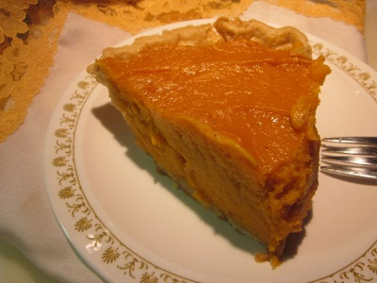 Sweet Potato pie serving