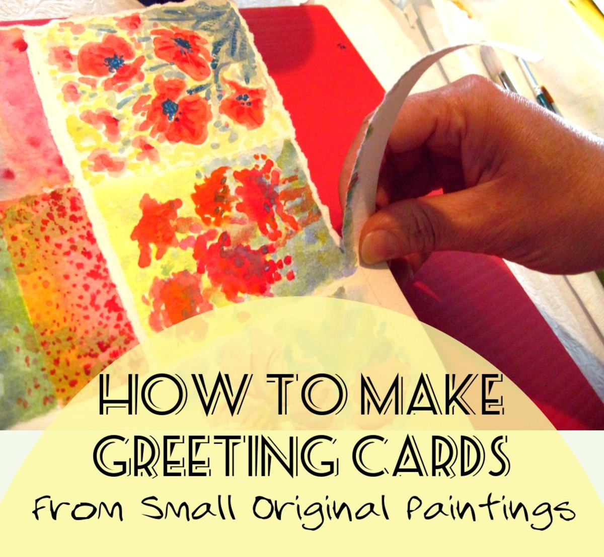 This step-by-step tutorial will show you how to make greeting cards using your own small, original paintings.