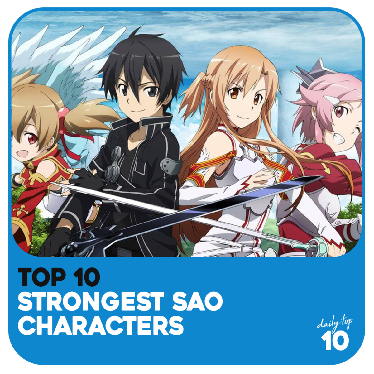 Top 10 Strongest Sword Art Online Characters