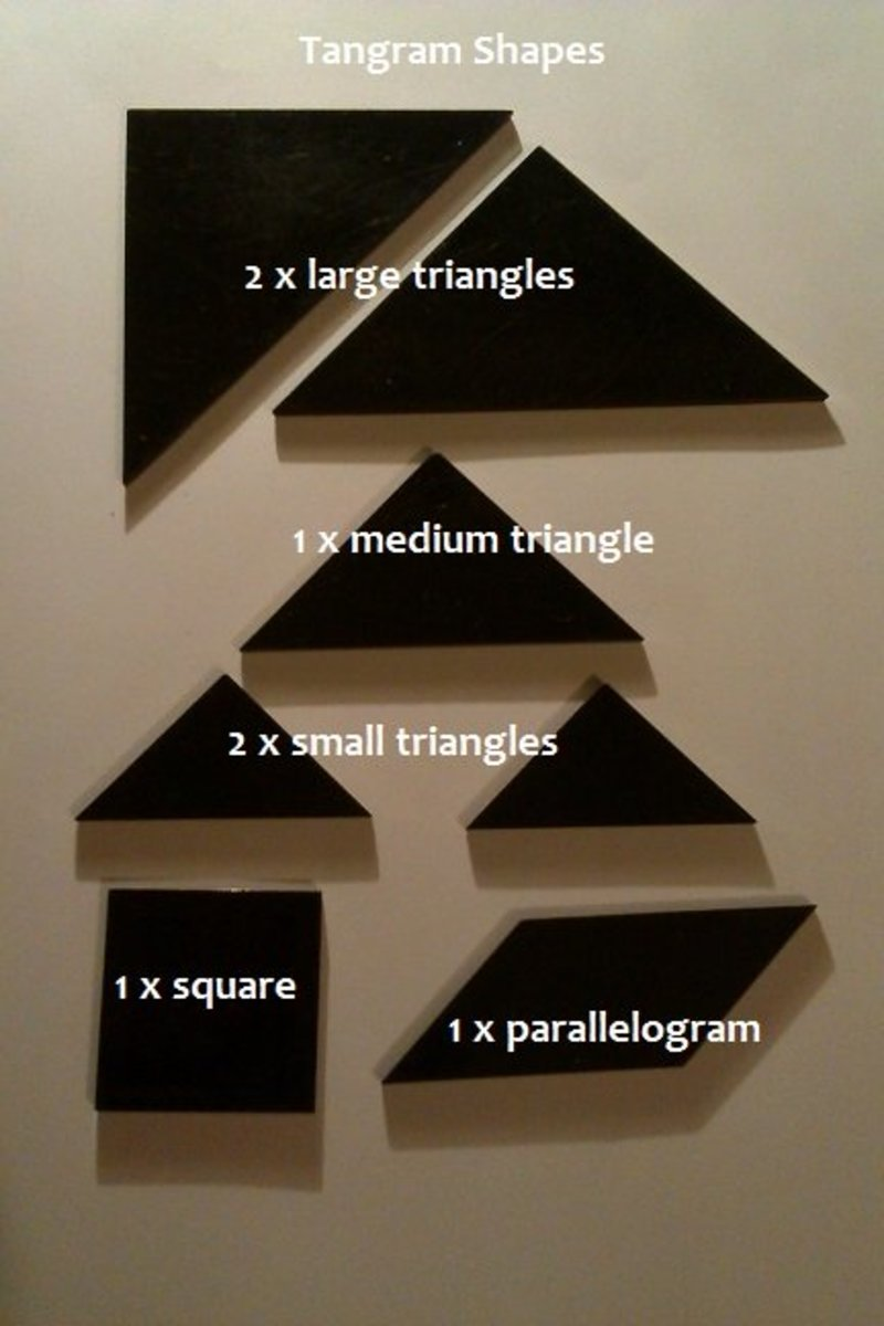 How to Make a Tangram Square: The Chinese Puzzle Game