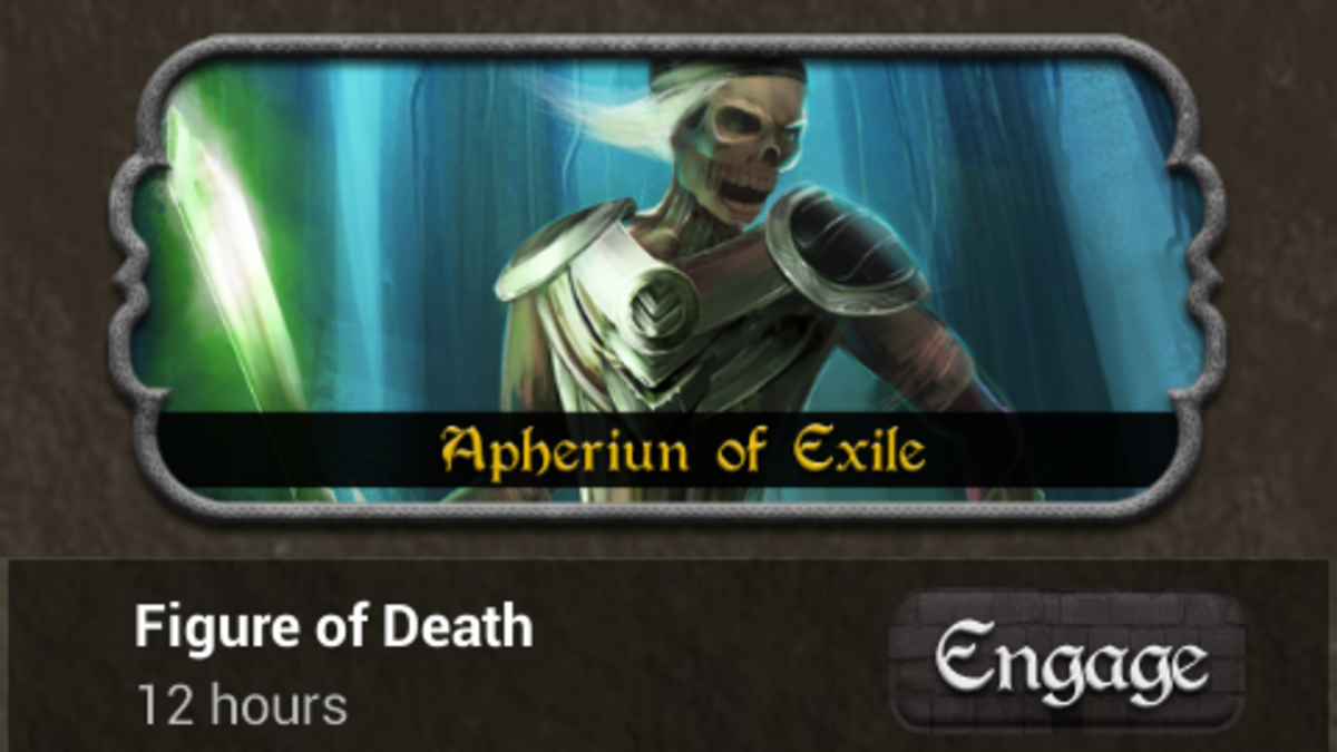 "Figure of Death is one of the Epic Battles in ""Kingdoms at War."" It has a difficult last phase that many players struggle with."