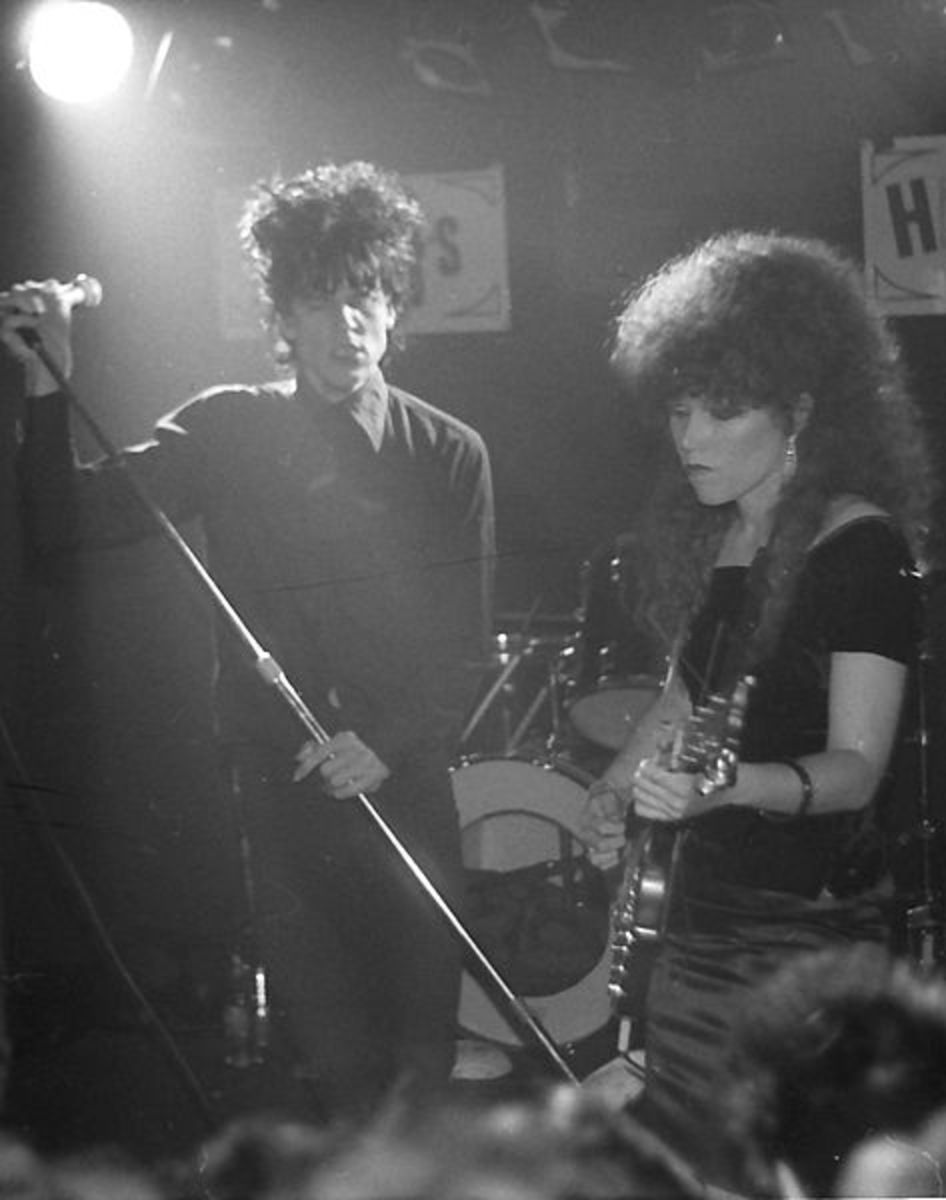 Husband and wife team of Lux Interior and Poison Ivy of The Cramps. The Cramps helped pioneer the Psychobilly movement.