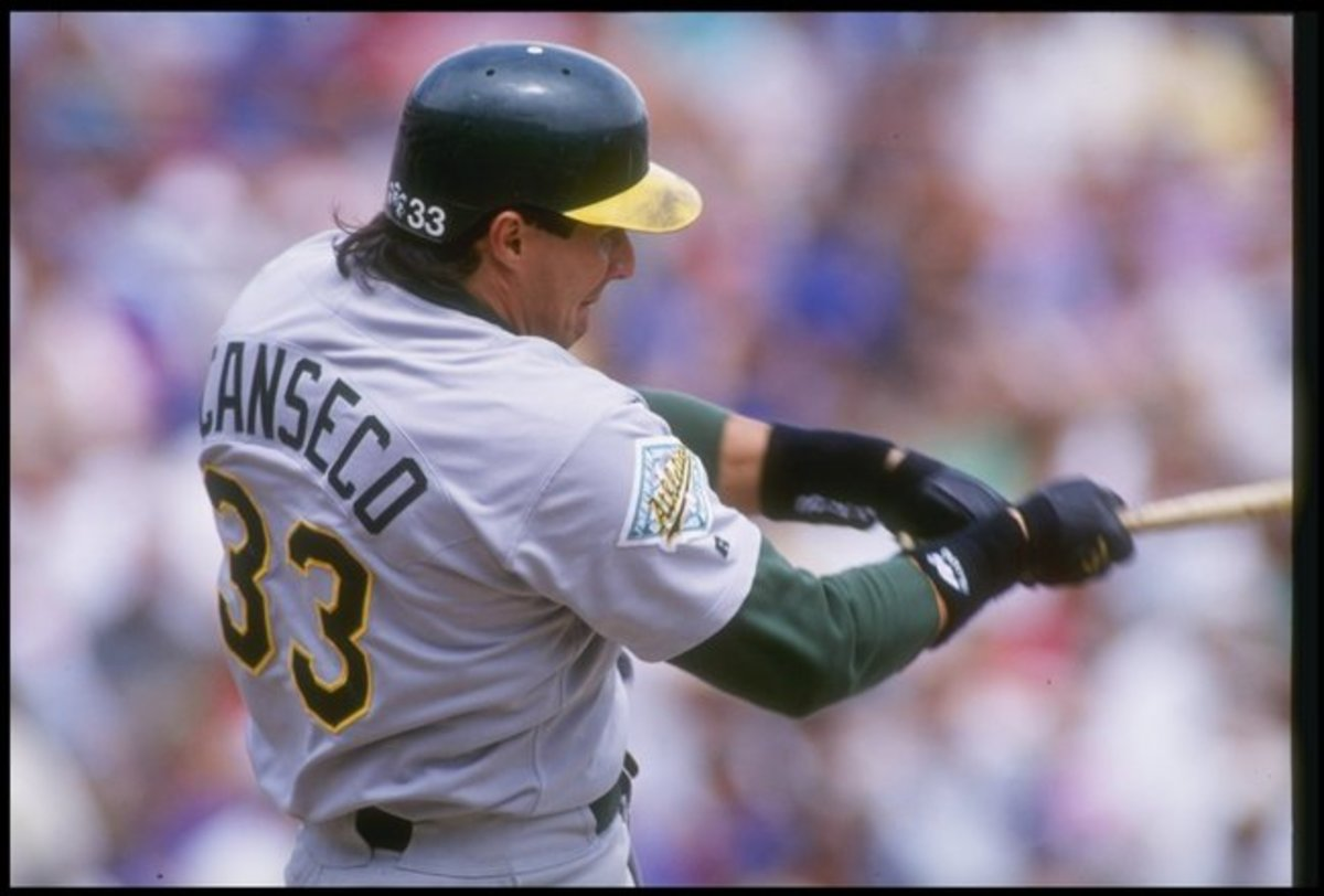 A young Jose Canseco with the Oakland Athletics.