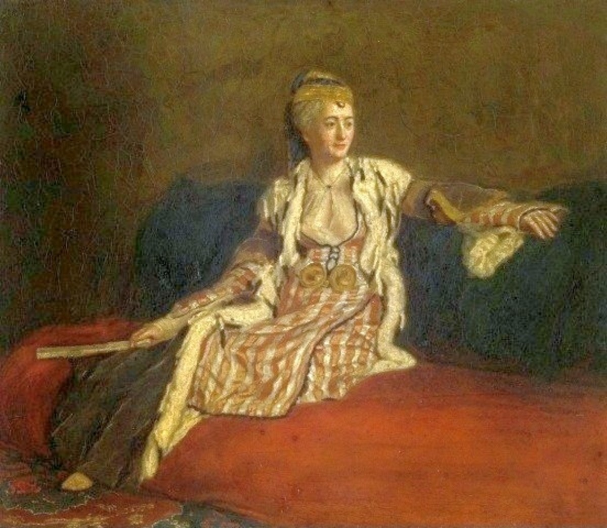 Mary Montagu in Turkish dress