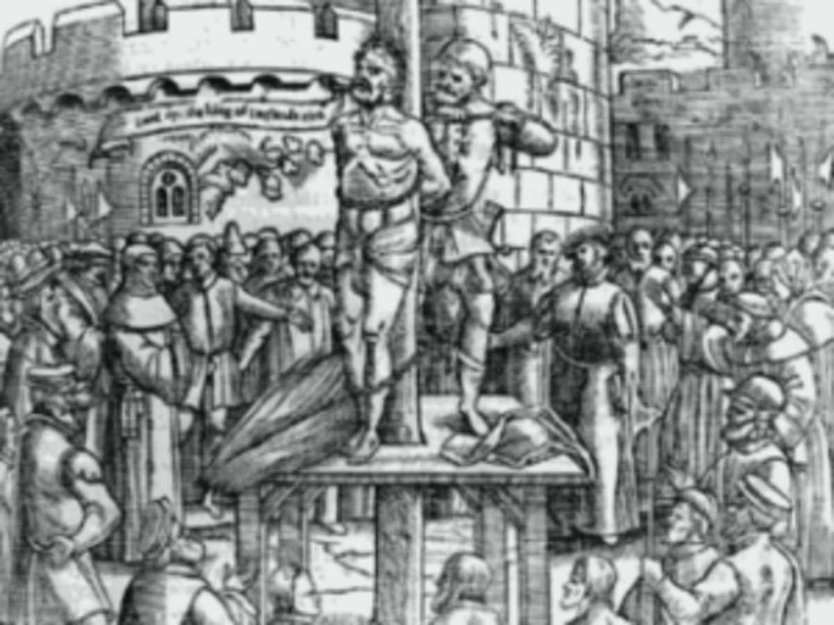 Citizen being punished during the Spanish Inquisition