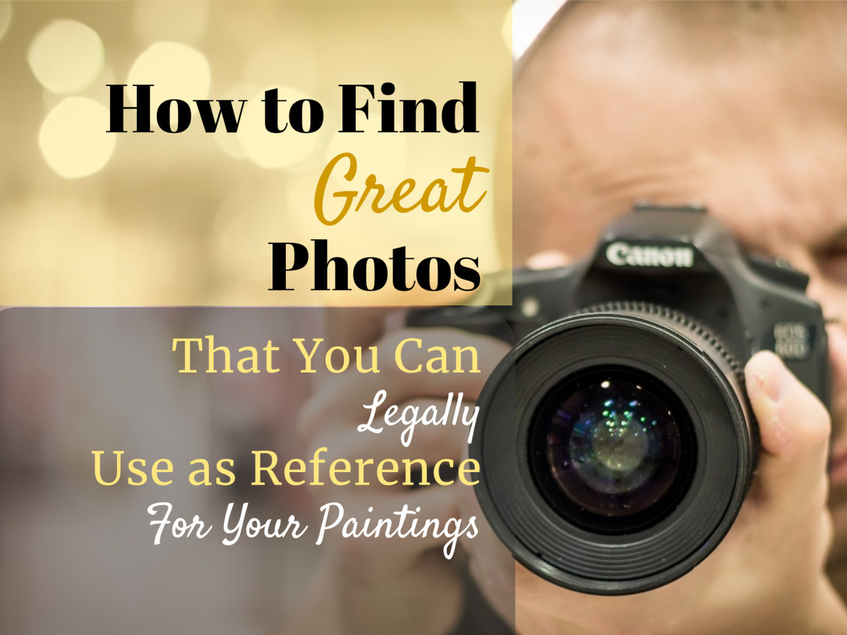 Make sure that you paint from royalty-free photos, look for photos with a license that allows derivative work and commercial use of the work, if you plan to sell your painting.