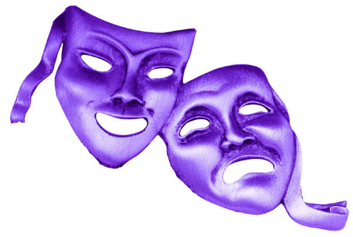 An interactive story is where you put on a mask and act out a role in order to understand and empathize better with the role.