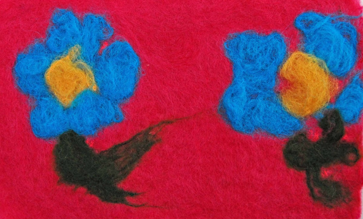 Wet Felting for Kids with Jiffy Bags
