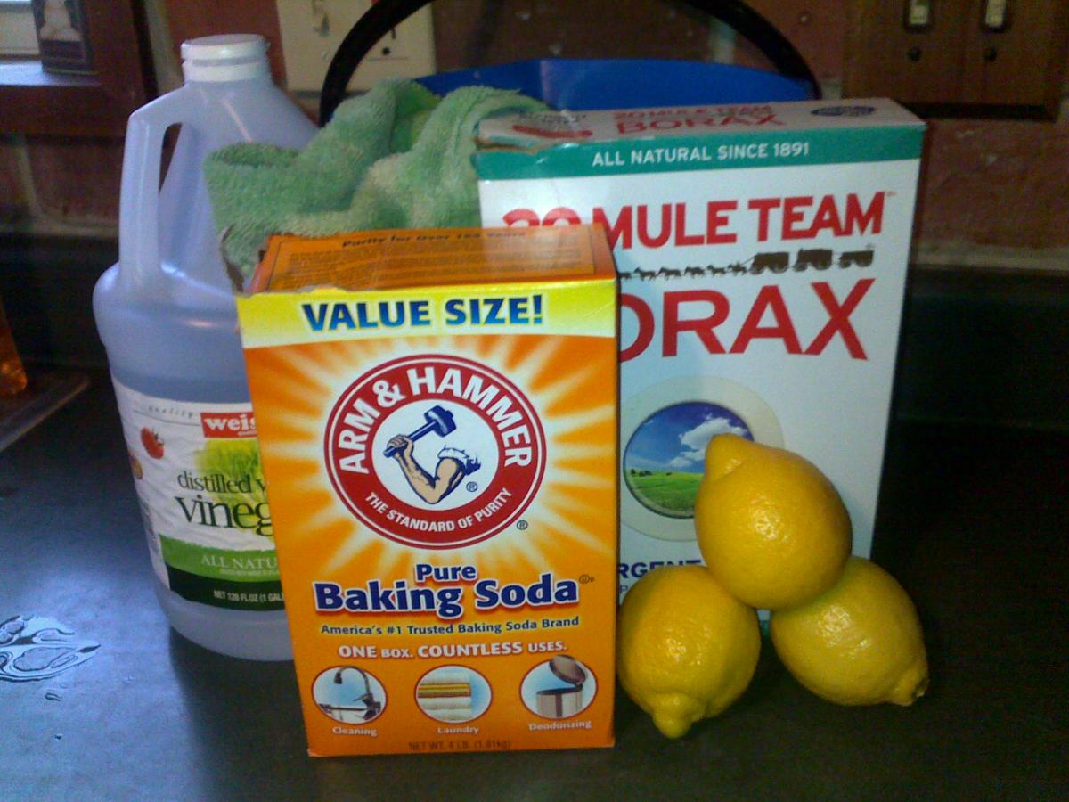 Borax and lemons OR baking soda and white vinegar are all you need to make homemade toilet bowl cleaner.