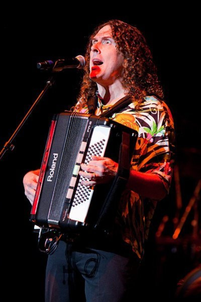 """""""Weird Al"""" Yankovic performing live in concert during his 2010 Tour."""