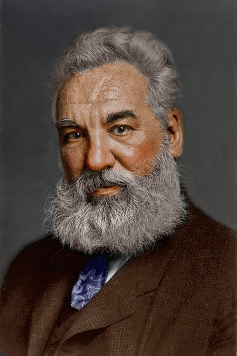 Portrait of Alexander Graham Bell, inventor of the telephone.