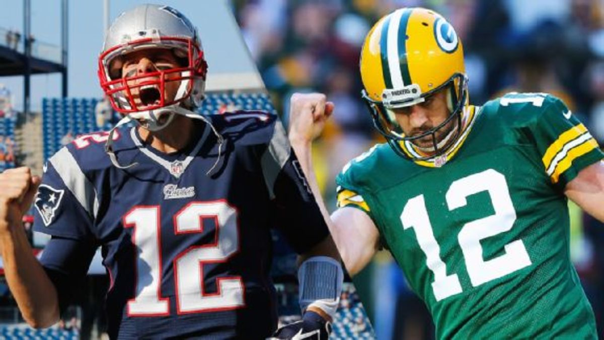 Tom Brady vs Aaron Rodgers