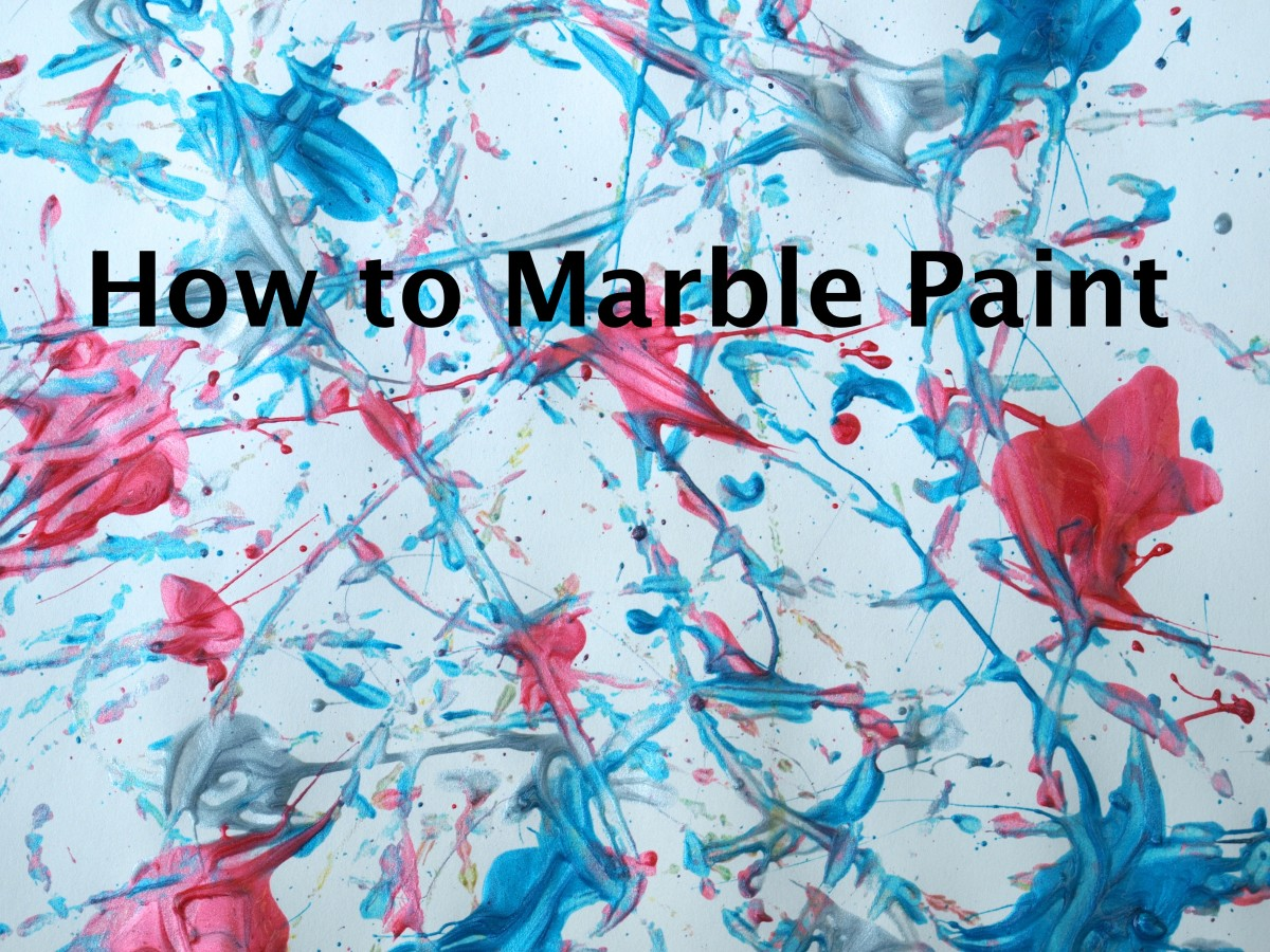 How to Paint with Marbles - Step by step tutorial with video