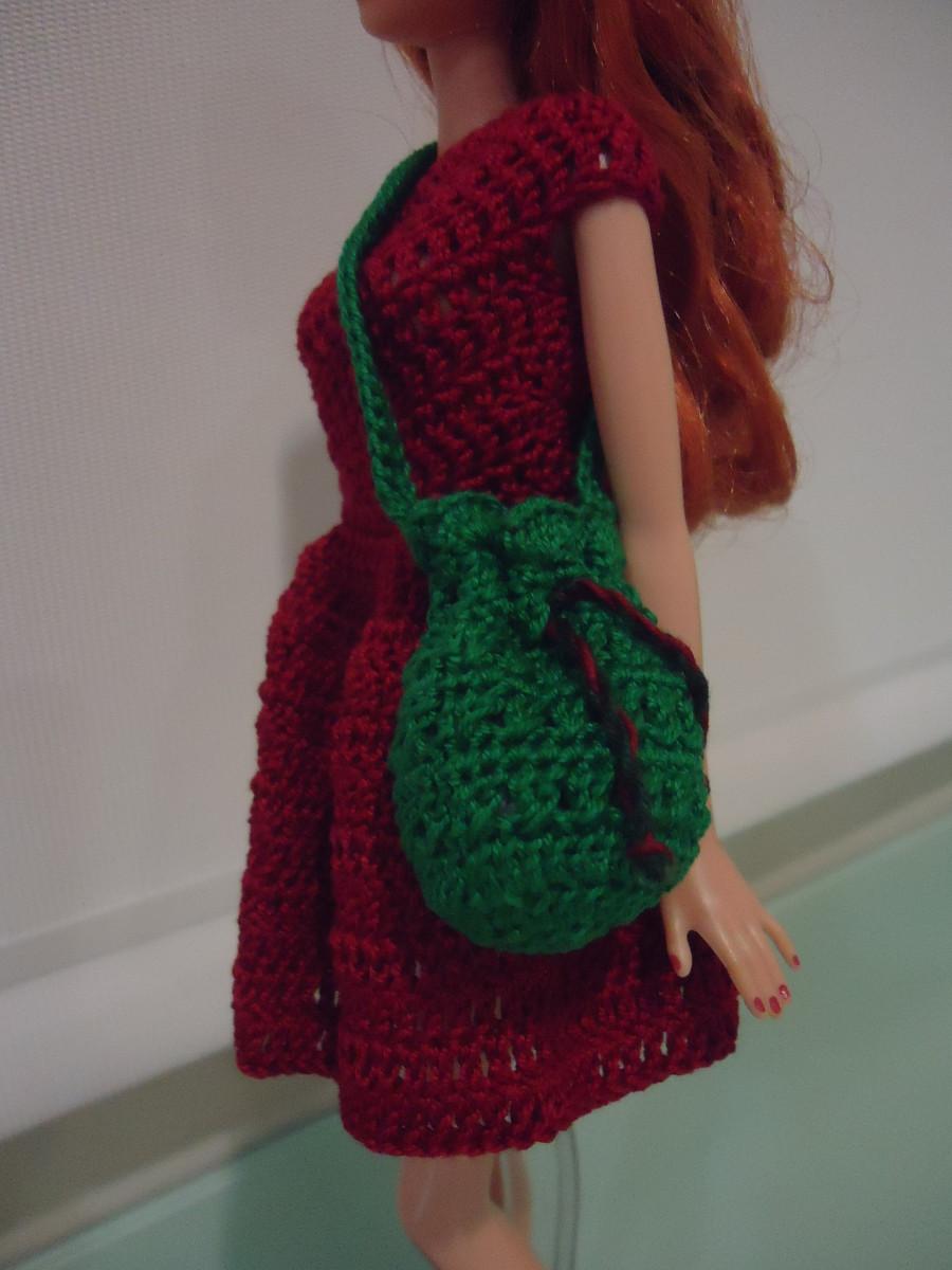 Free Crochet Patterns Drawstring Bags : Barbie Bikini Drawstring Bag (Free Crochet Pattern)