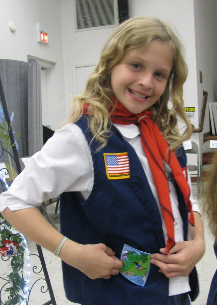 My daughter is in American Heritage Girls or AHG.