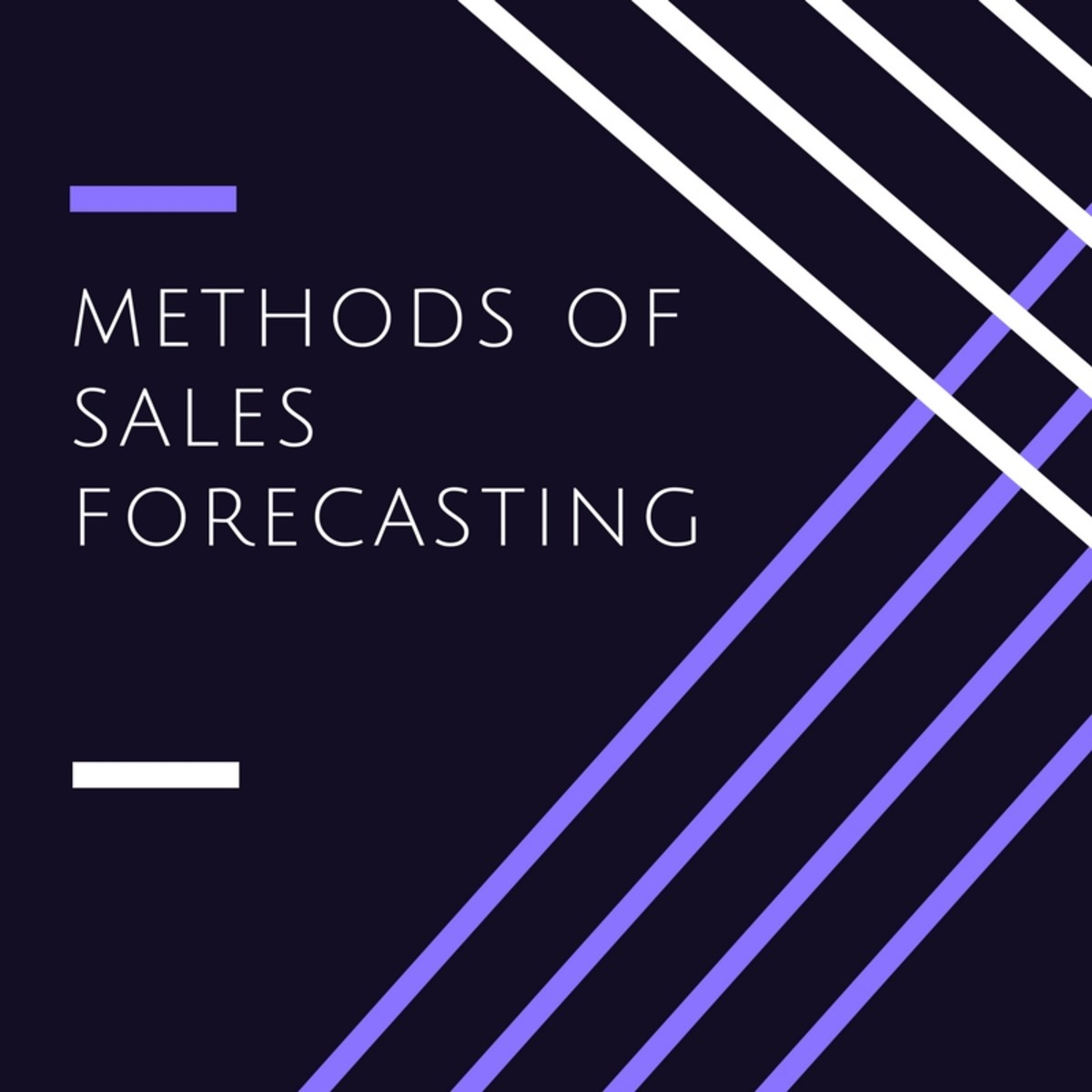 Sales forecasting is one of the most difficult but critical skills to master.