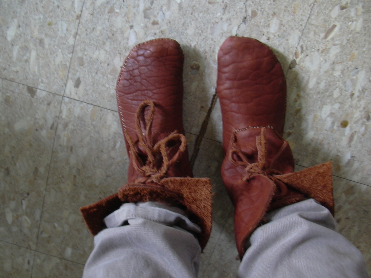 I Made My Own Buffalo and Elk Leather Moccasins