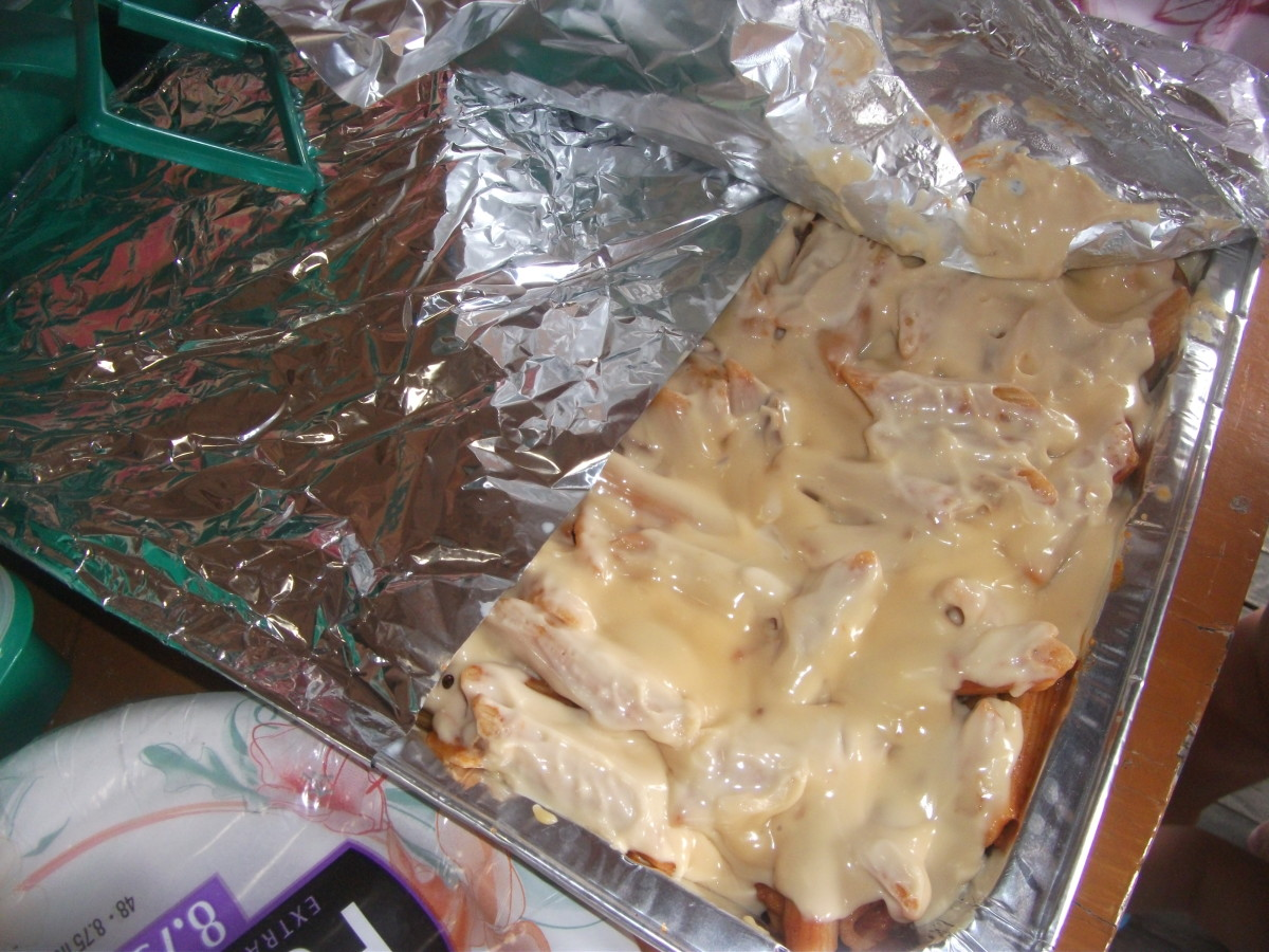 Our no-bake Baked Mac. We brought this during our swimming! Yey.