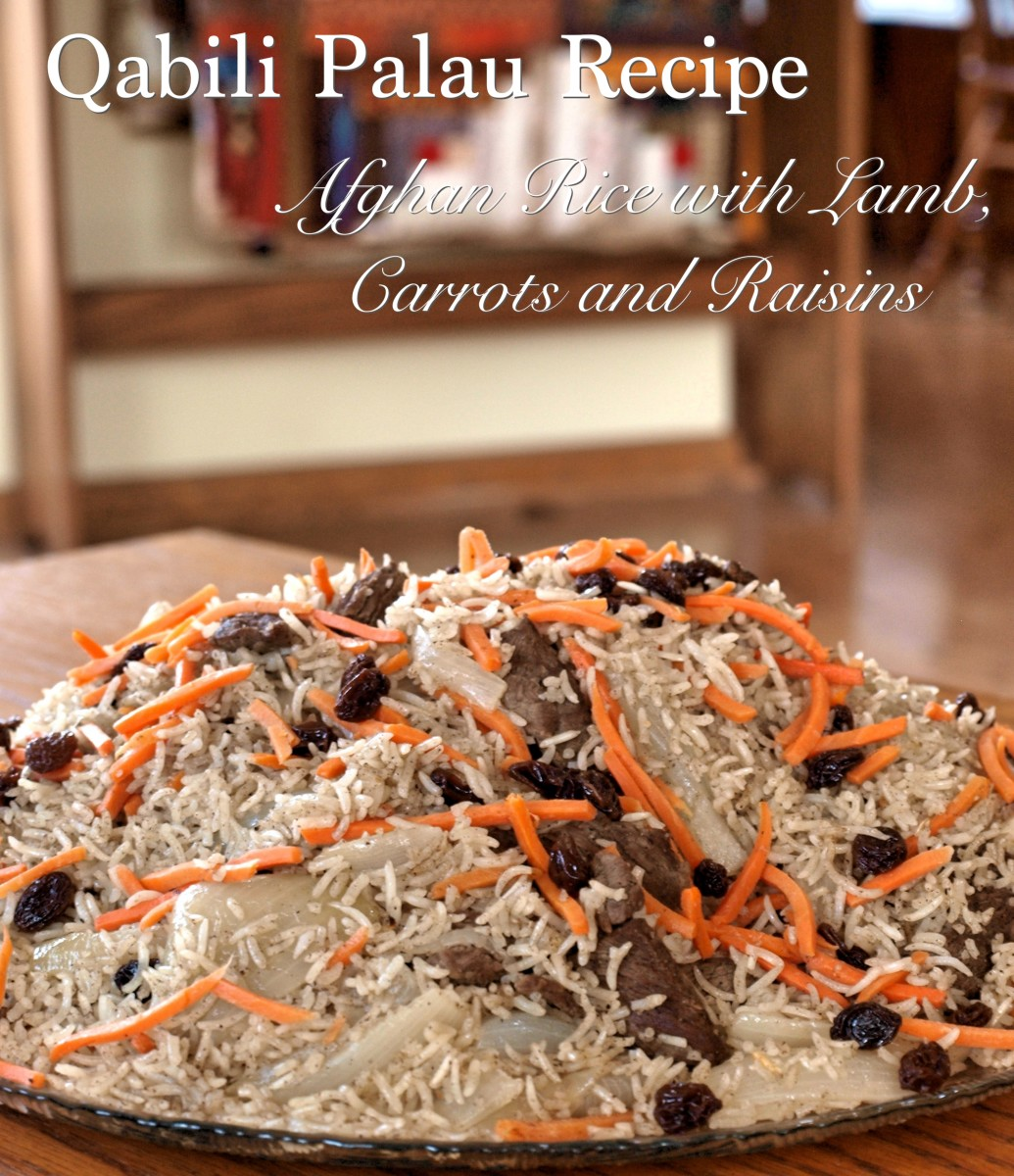 Learn to make this delicious gluten-free Kabuli Pulao recipe with Afghan rice, raisins, lamb, and carrots.