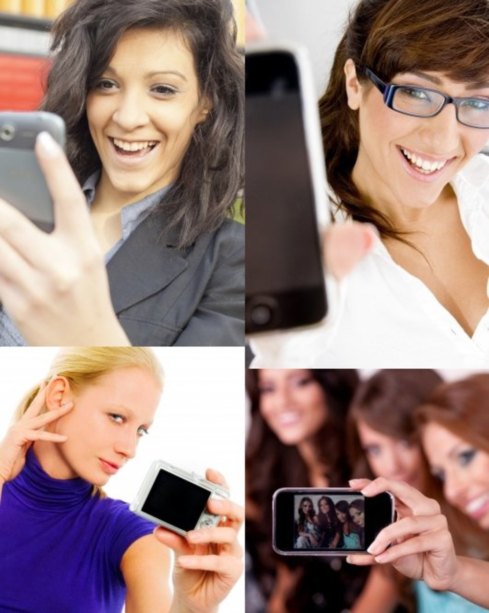 Whether you are at work, home or with friends, take a selfie or a self-portrait with your iPhone or a camera and email it to your husband. Add a cute caption that says I Miss You or Wish you were here.