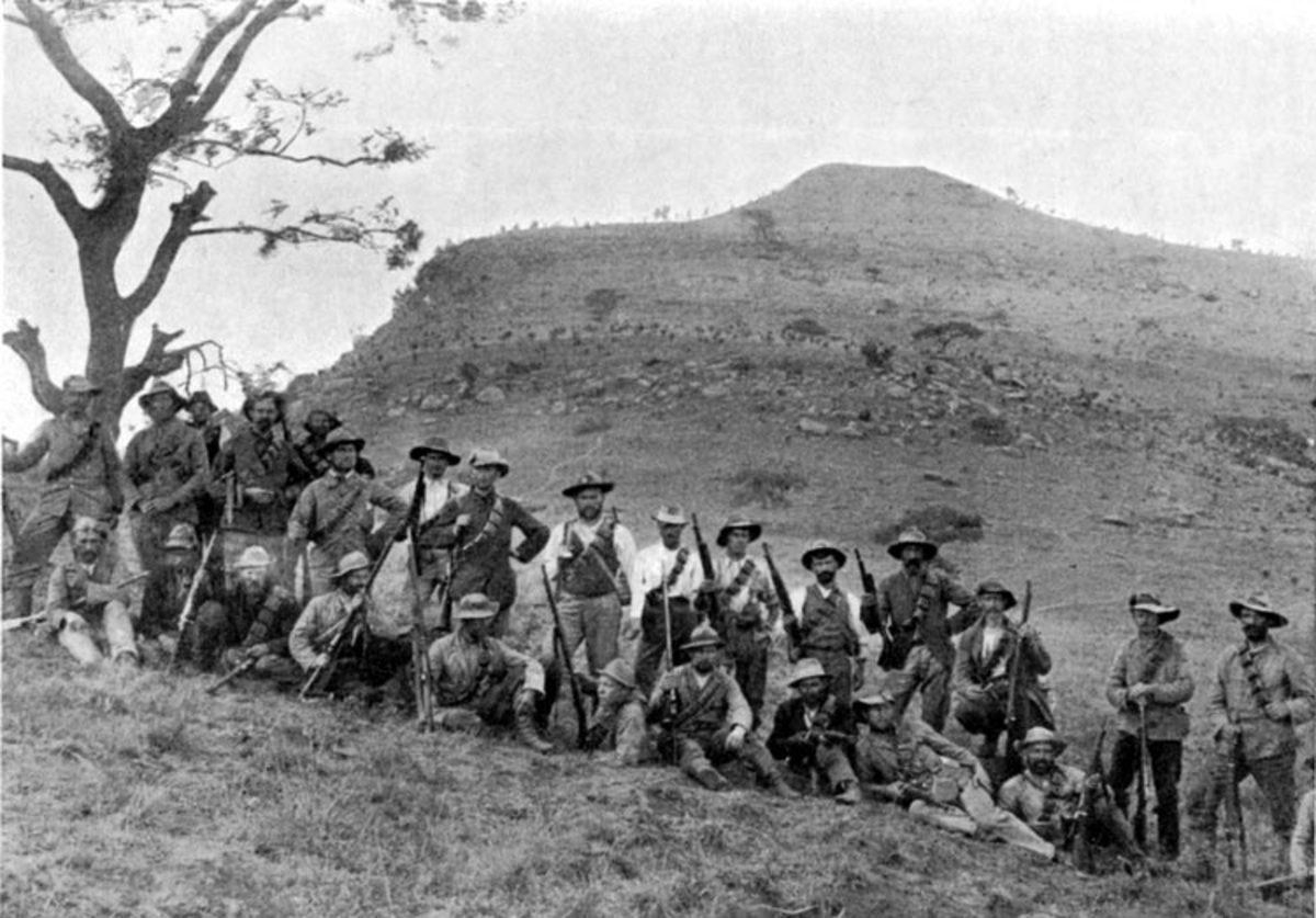 A detachment of Boer commandos at Spion Kop, ready to take on the mightiest empire in the world.