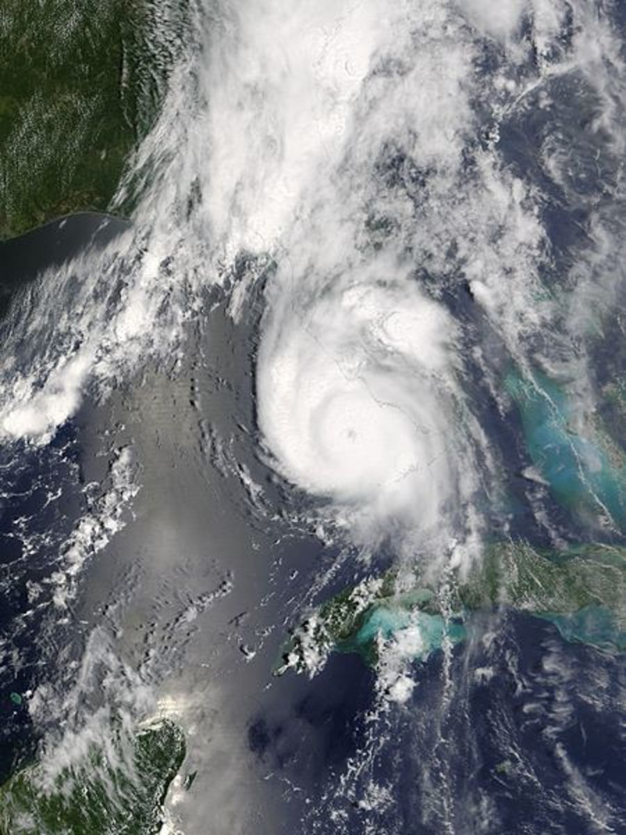 Hurricane Charley as it approached Florida's west coast.