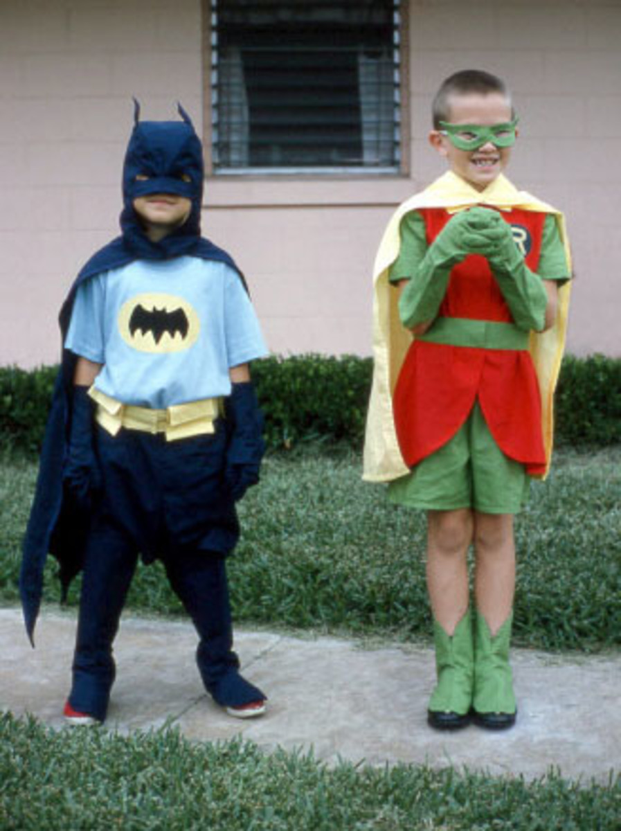 """My mother and I looked like this BEFORE her """"incident.""""  Look how Robin is already giggling.  Not a good sign."""