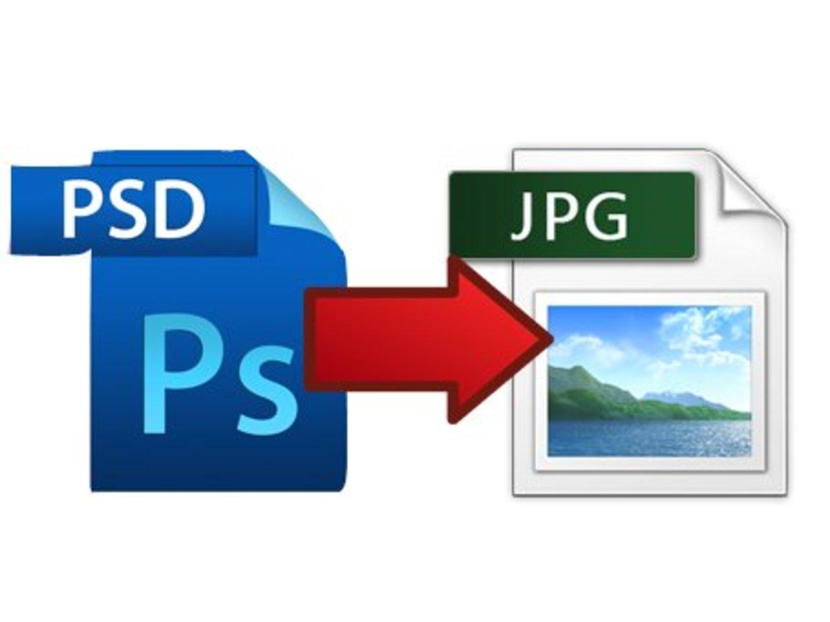 Convert PSD to JPG.