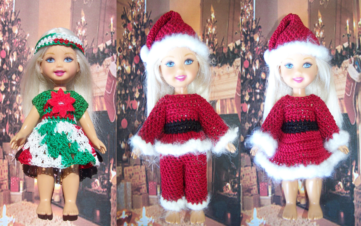 "Free Crochet Pattern for 6"" Mattel Kelly Doll"