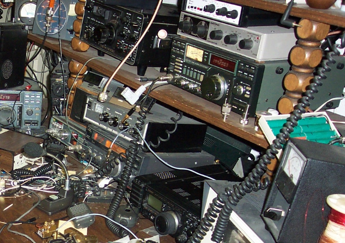 Ham radio equipment has a distinct advantage over a cell phone if stranded in the middle of nowhere.