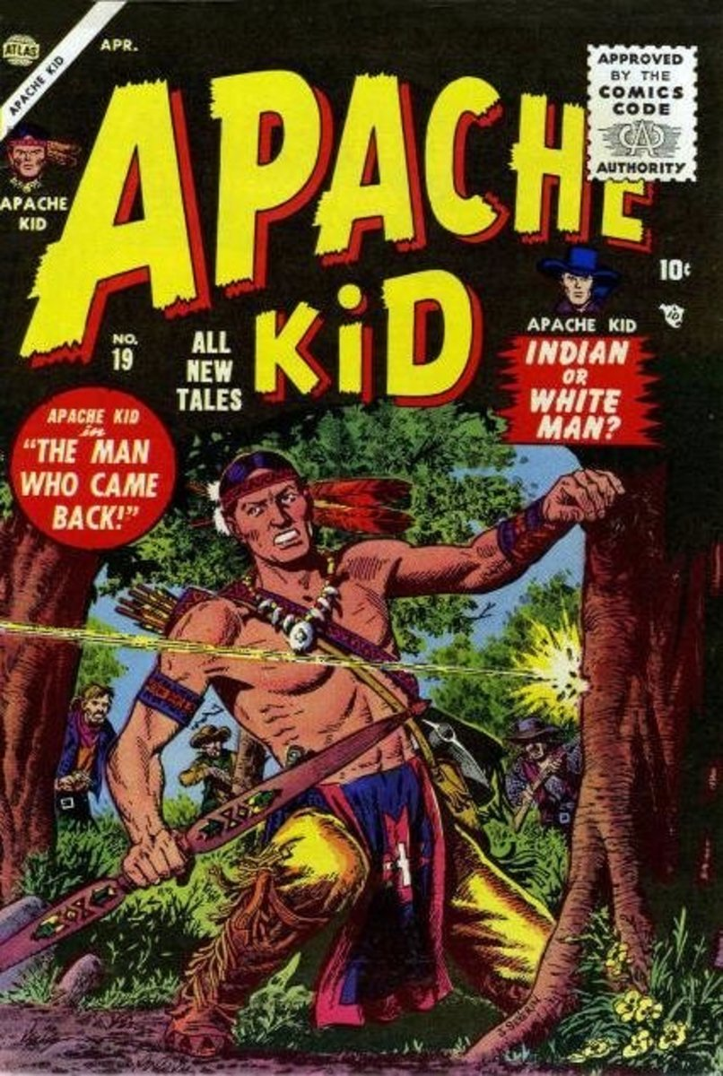The Apache Kid was an early attempt at Native Americans in Comics (1956)