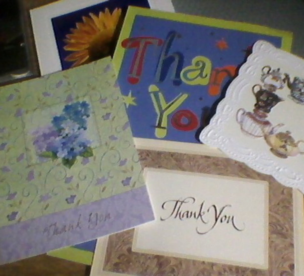 These are what are known as thank-you cards.