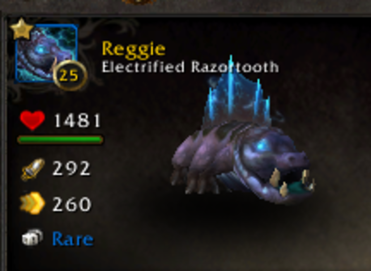Electrified Razortooth: A handsome elemental pet with abilities that were nerfed.